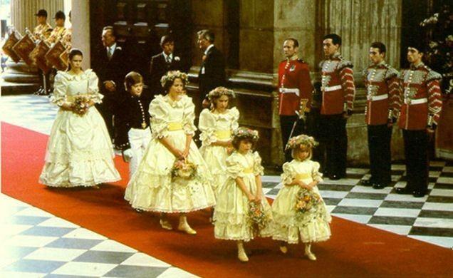 Enfants d'honneur Charles et Diana