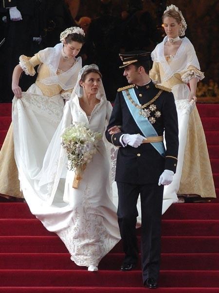 Enfants d honneur Prince Felipe et Letizia d Espagne