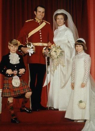 enfants d honneur princiers en ecossais et blanc