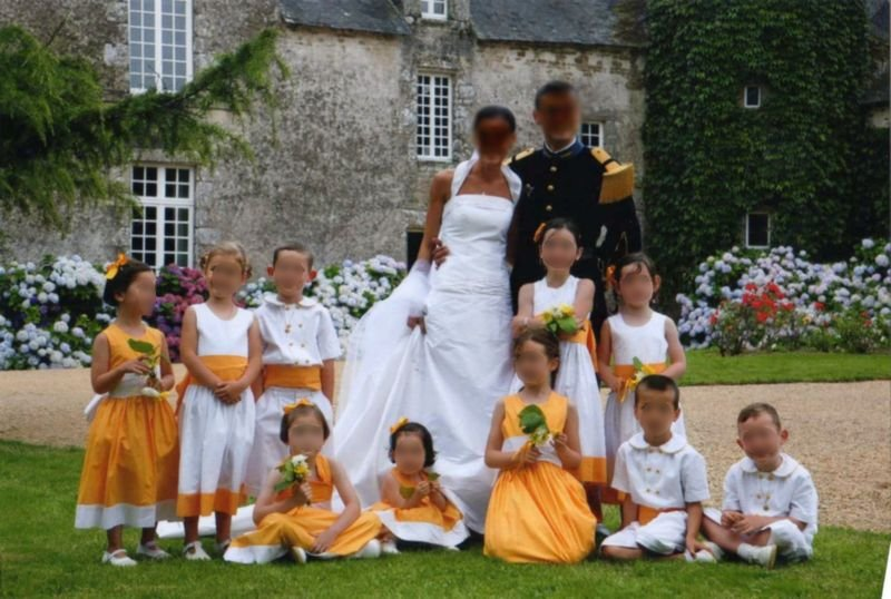 enfants d honneur jaune orange