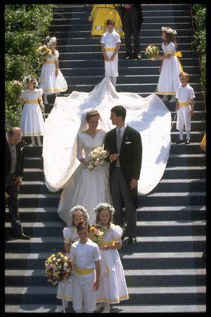 Mariage du Prince Aloïs de Lichtenstein et de la duchesse Sophie en Bavière