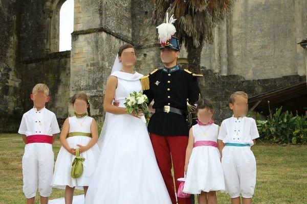 Cortège Claire-Marie: blanc et ceintures colorées