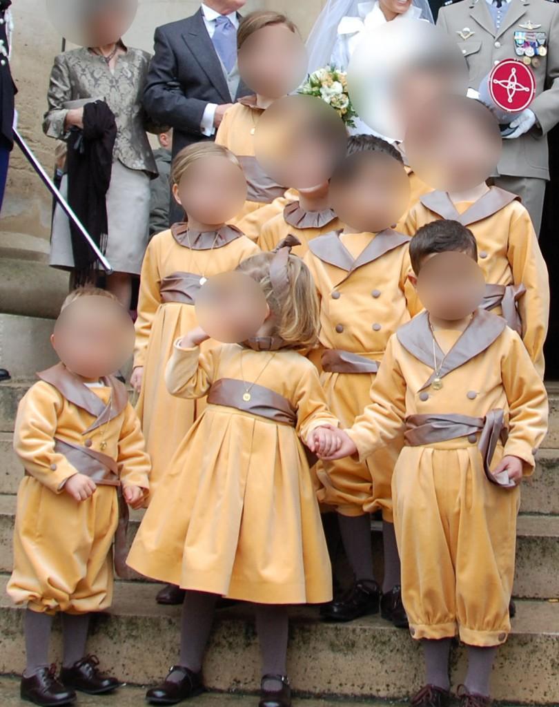enfants d honneur velours moutarde