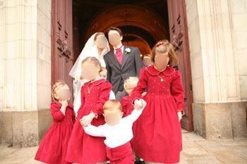 velours smocks hiver enfants d honneur rouge
