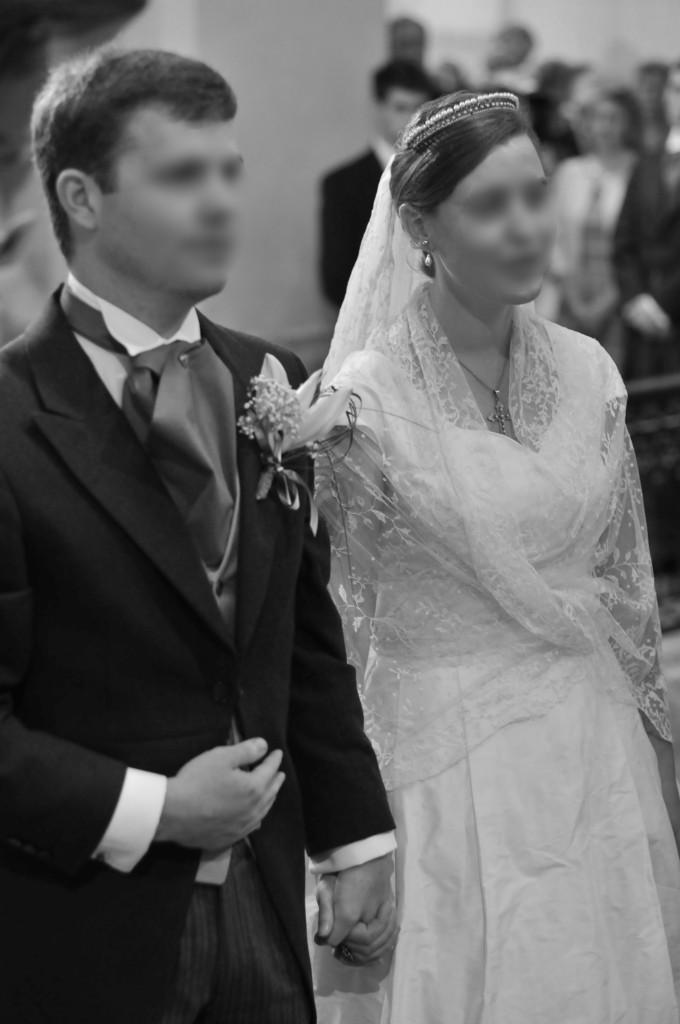 Voile ancien mariage dentelle