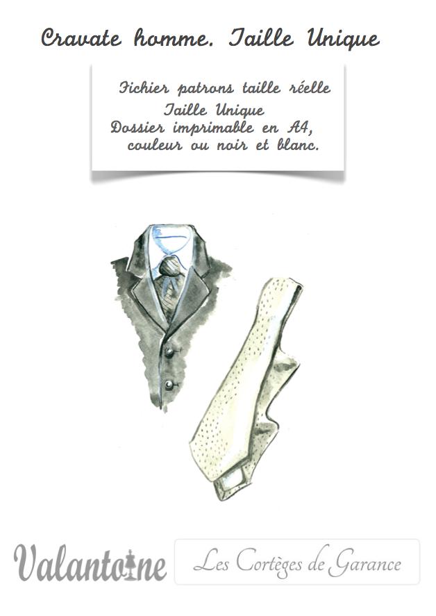 Patron de Cravate pour homme