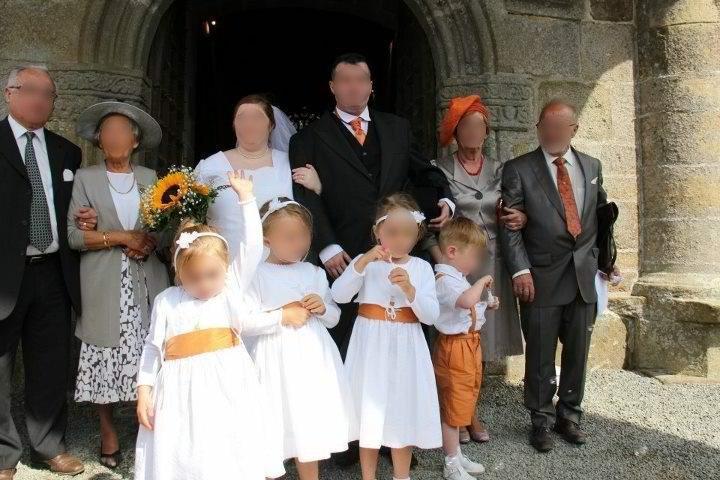 Cortège Hildegarde: soie sauvage orange