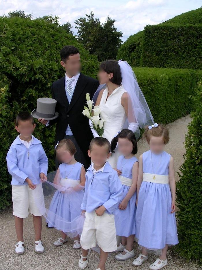 enfants d honneur vareuse bleue