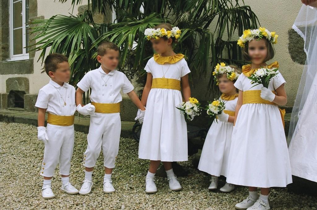 Cortège Hélène: blanc et jaune d'or