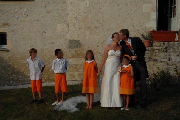 enfants d honneur orange
