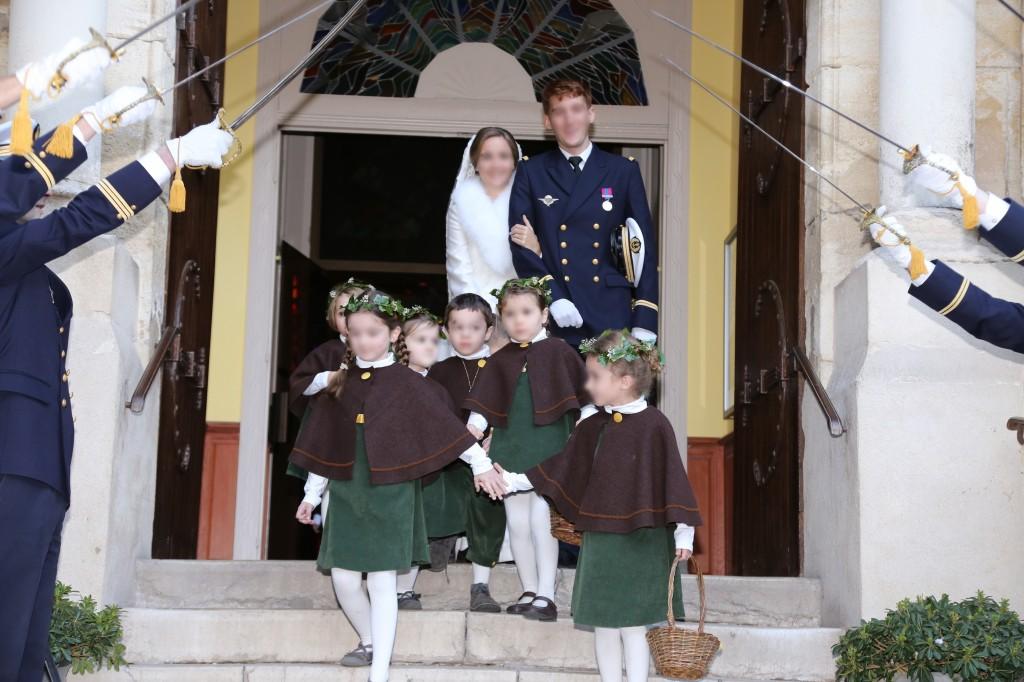 Cortège Sybille: vert et brun pour un mariage d'hiver