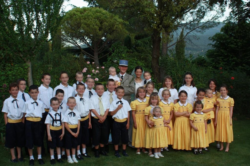 Cortège Clotilde: 29 enfants d'honneur