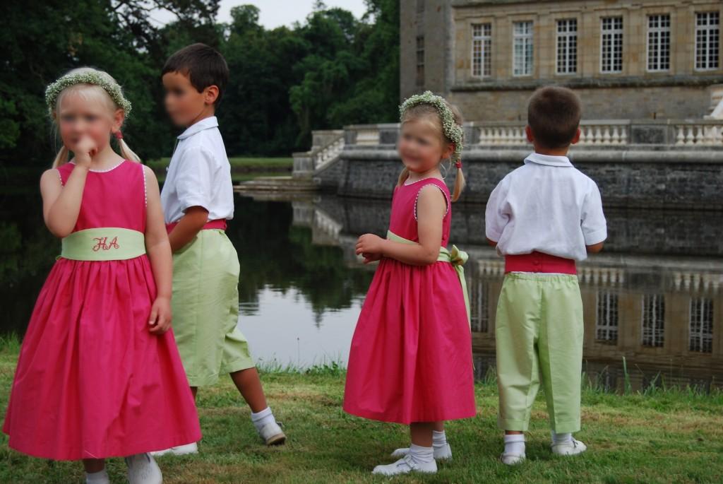 enfants d honneur fuchsia anis
