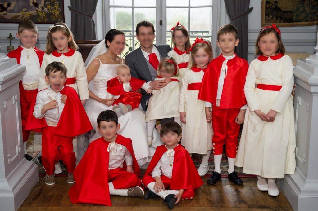 enfants d honneur rouge blanc