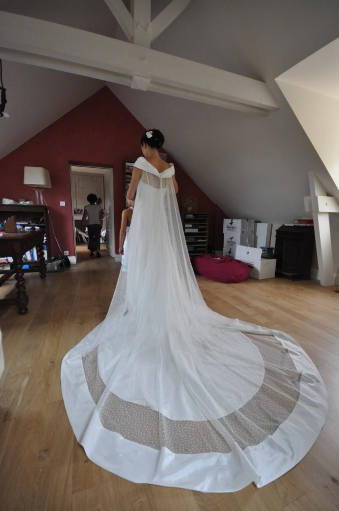 Robe de mariee de pauline organza et plumetis robes de for Patron de robe de mariée
