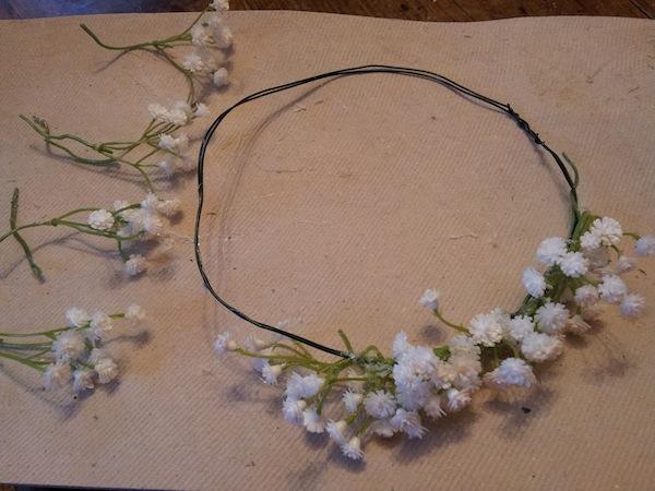 tuto couronne fleurs