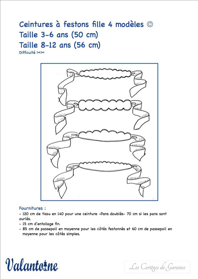 patron ceinture cortege