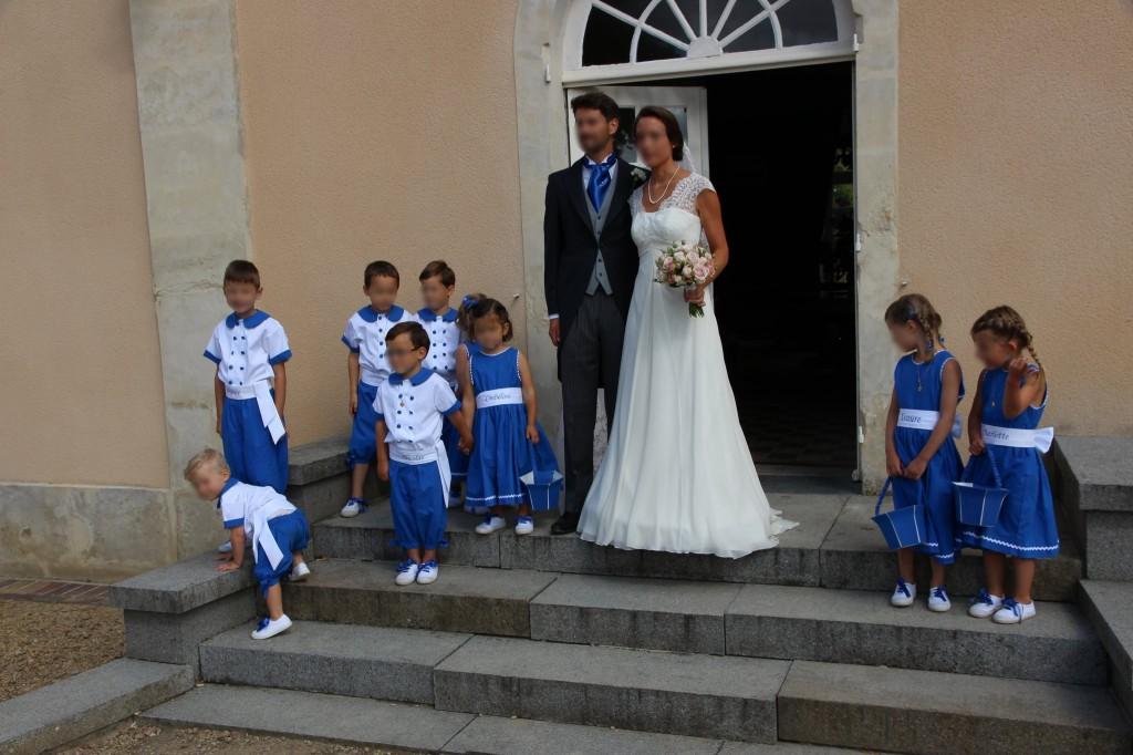 Cortège Blandine: bleu roi et blanc