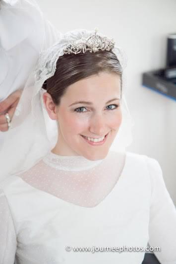 Voile de mariée de Clotilde: dentelle duchesse de Bruxelles