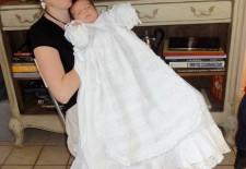 Robe de baptême de Charlotte: dentelle belge
