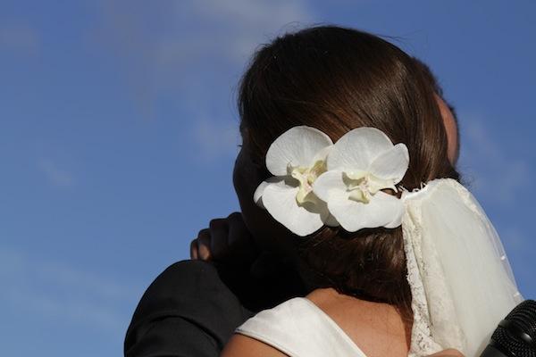 Chignon orchidee