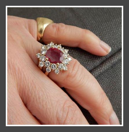 Bague de fiançailles: Rubis de Christine