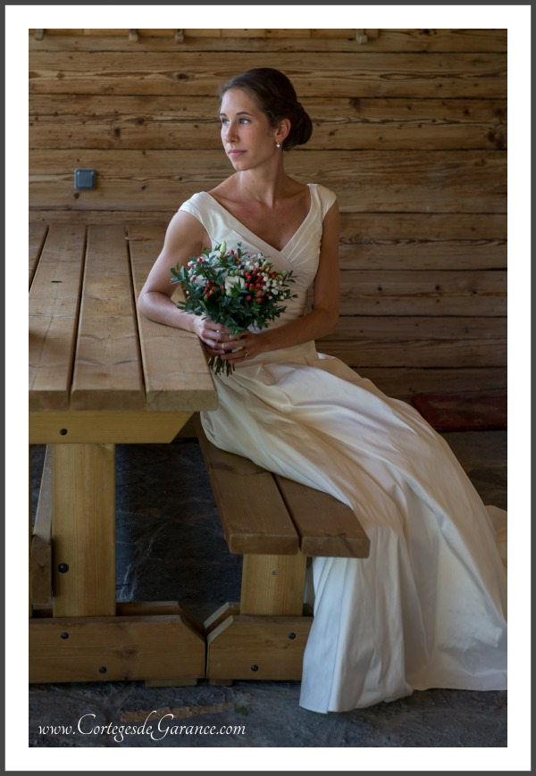 Robe mariee bouquet