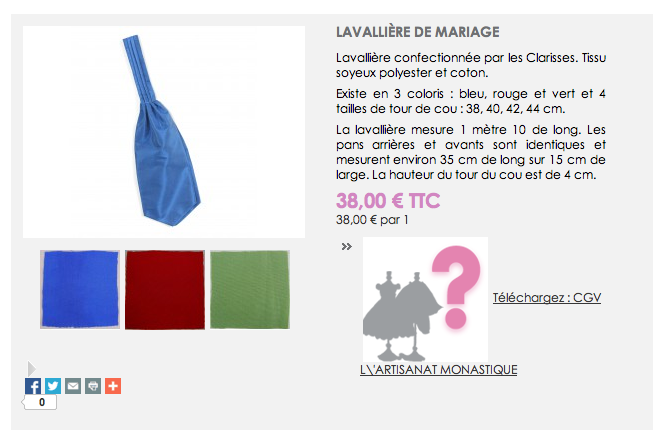 lavallieres mariage