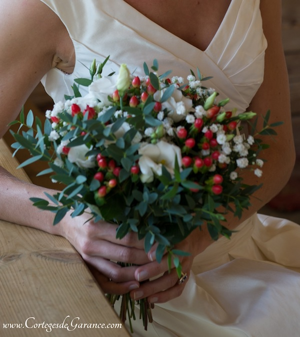 bouquet mariee rouge