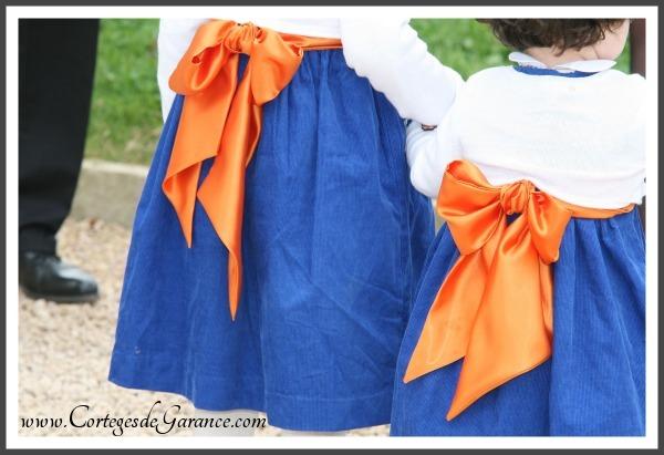 cortege bleu orange