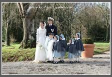 Cortège Mathilde: costume marin et velours