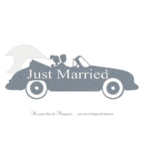 motif broderie just married
