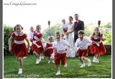 Cortège Clémence: rouge blanc