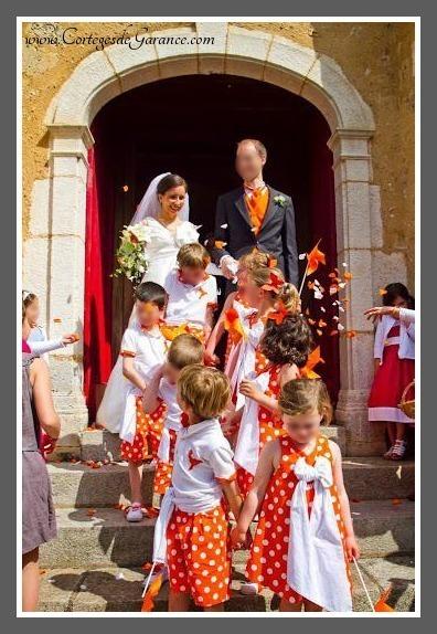 enfants d honneur orange