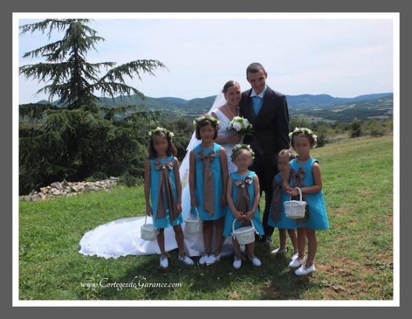 enfants-d-honneur turquoise
