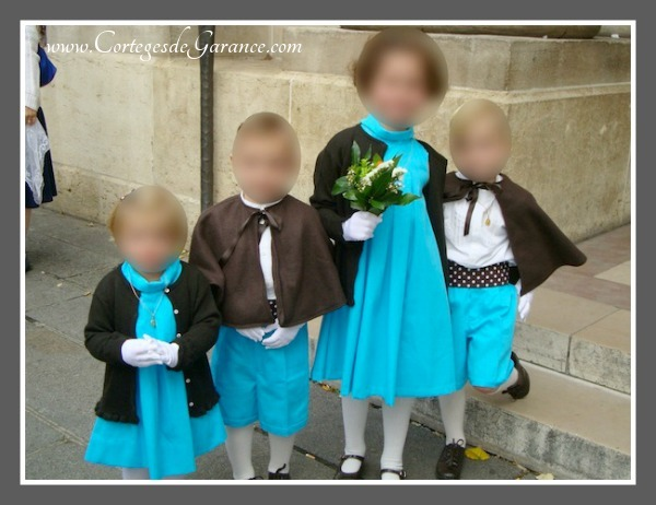 Cortège Mathilde: turquoise et chocolat