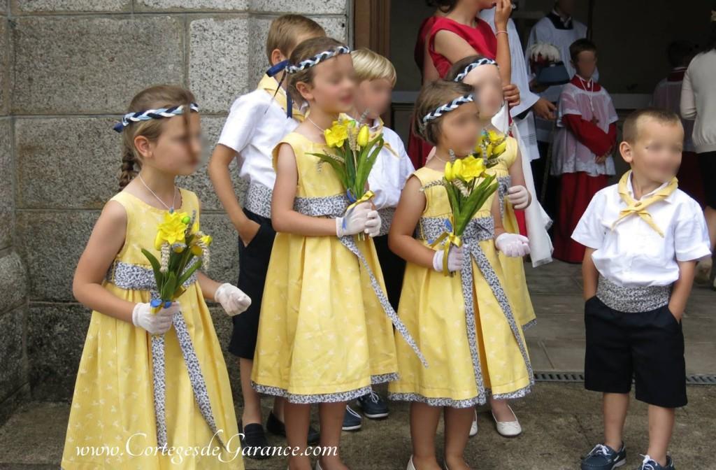 robe enfants d honneur jaune