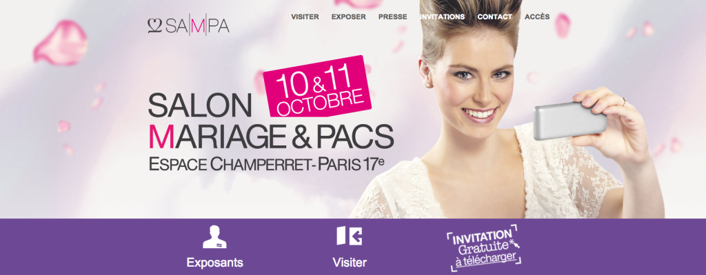 10 et 11 octobre: Retrouvez-nous au Salon du mariage et du Pacs