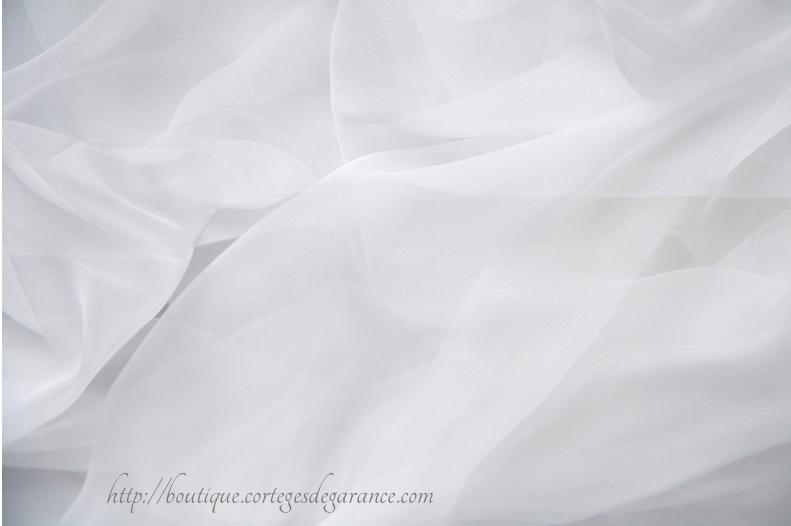 mousseline soie robe mariee
