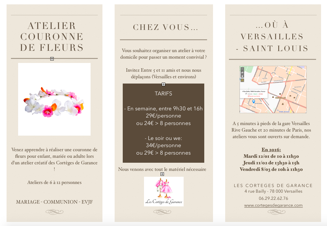 Flyer atelier Couronne