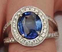 Bague de Lorraine: saphir et diamants