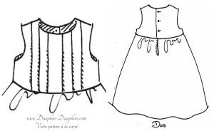 Compatible avec la robe à plis verticaux et dos boutonné