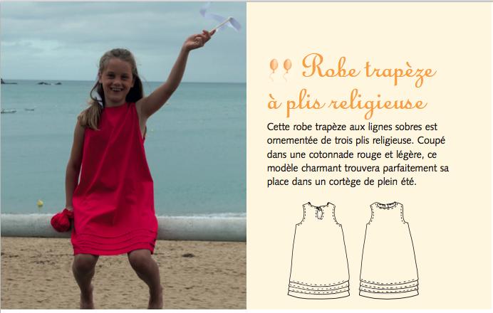 Photo: Solène Perrot - Robe trapèze à plis religieuse
