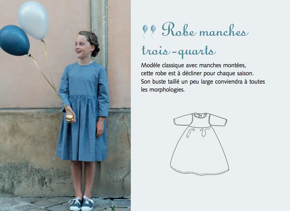 robe manhces trois-quart