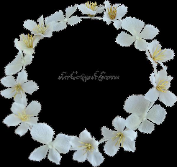 Couronne blanche hortensias fleurs de cerisiers - copie 2