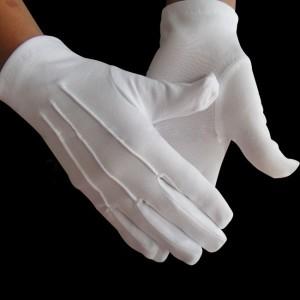 Gants blancs 3 nervures