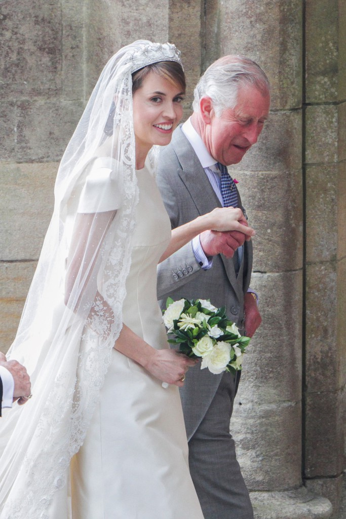 Rachel Adams 25.6.16  Romsey Abbey  Alexandra Natchbull marries Thomas Hooper. Bride arrives and goes into abbey with Prince Charles