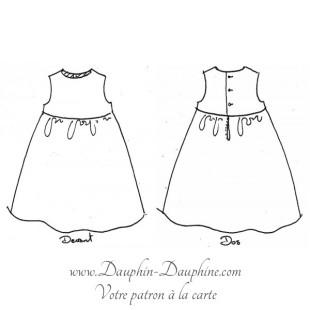 Patron de robe à dos boutonné