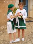 Cortège Cécile: vert basque