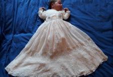 Blanchir une robe de baptême ancienne ou un voile de mariée